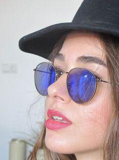 Bensu Soral Ray Ban Eyewear, Turkish Beauty, Light Blonde, Turkish Actors, My Princess, Woman Crush, Woman Face, Simply Beautiful, Mirrored Sunglasses