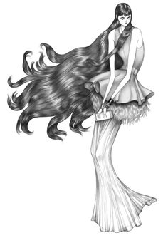 Scandinavian fashion illustrator Laura Laine for Givenchy