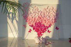 un coeur, des papillons... le cadre diy http://vraibisou.wordpress.com/2014/10/03/un-coeur-des-papillons-le-cadre-diy-avec-tuto/