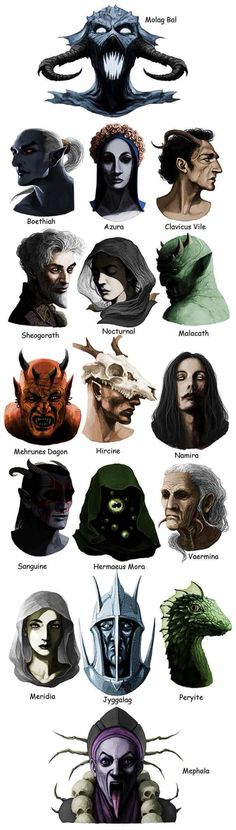 I've only played Skyrim, so I have to admit I was surprised to see there are more Daedra in The Elder Scrolls games than the ones I met. Elder Scrolls V Skyrim, The Elder Scrolls, Elder Scrolls Games, Elder Scrolls Online, Elder Scrolls Oblivion, Dunmer Skyrim, League Of Legends, Skyrim Fanart, Tes Skyrim