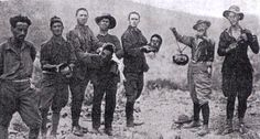 Spanish Legionaires holding the heads of Riffian fighters, 1922 - After France's entry into the conflict and the massive landing of Spanish troops at Al Hoceima, el-Krim surrendered to the French and went to exile. Despite victory, controversy in Spain over the conduct of the war led to a military coup by General Miguel Primo de Rivera in 1923 and foreshadowed the Spanish Civil War of 1936–39.