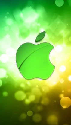 Green Bokeh Apple iPhone Wallpaper and iPod touch Wallpaper Apple Logo Wallpaper Iphone, Cute Wallpaper For Phone, Cellphone Wallpaper, I Wallpaper, Mobile Wallpaper, Apple Background, Free Printable Flash Cards, New Backgrounds, Cute Wallpapers