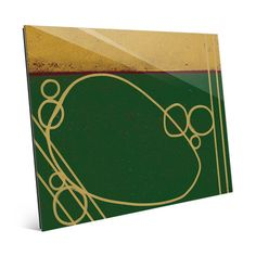 """Click Wall Art Circles on Emerald Painting Print on Plaque Size: 11"""" H x 14"""" W x 1"""" D"""