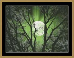 New Moon Series - Green Moon [NFP-177] - $16.00 : Mystic Stitch Inc, The fine art of counted cross stitch patterns