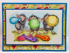 @Donna bourgeois Quick Kimmel is playing with @Allison House-Mouse Designs®  and #FaberCastellUSA this week on the #Stampendous Blog Hop! #cre8time