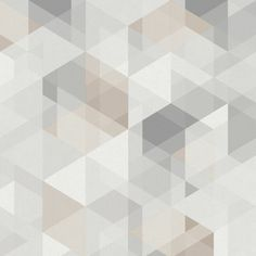 Neutral Wallpaper, Geometric Wallpaper, My New Room, Geometric Shapes, Geometry, Perspective, Modern, Texture, Abstract