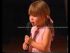 Connie Talbot's first performing on stage