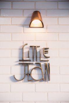 Little Jean cafe || Office Signage | Modern Design || #office #signage #moderndesign http://www.ironageoffice.com/