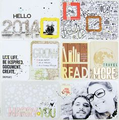 Title Page 2014 Project Life 2014 - Title page by celine navarro at Project Life Scrapbook, Project Life Layouts, Scrapbook Journal, Project 365, Scrapbook Pages, Scrapbook Layouts, Celine, Life Cover, Pocket Scrapbooking