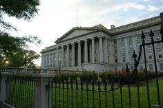 US Department of the Treasury in Washington DC, D.C.