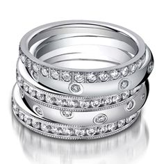 Benchmark diamond stacked bands.