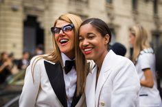 STYLE DU MONDE / Milan FW SS2014:  Anna Dello Russo & Tamu McPherson  // #Fashion, #FashionBlog, #FashionBlogger, #Ootd, #OutfitOfTheDay, #StreetStyle, #Style