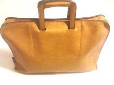 Vintage Leather Slim Briefcase, Portfolio, Attache Bag,  #Unbranded #SlimBriefcaseAttache   US $55.00