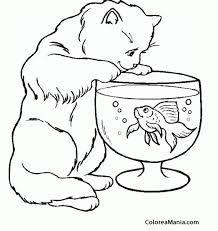 Resultado De Imagen Para Pecera Para Imprimir Animal Coloring Pages Cat Coloring Page Coloring Pages