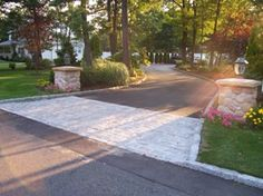 New vernon nj landscaping landscape design new vernon nj for Driveway apron ideas