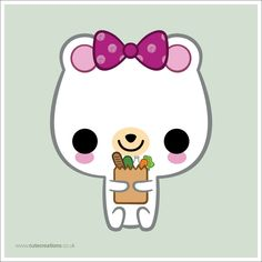 Shopping Bear by Cute-Creations.deviantart.com on @deviantART