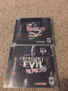 Dreamcast Resident Evil 2 and 3 Nemesis  #retrogaming #HotDC  US version in very good condition. Auction.
