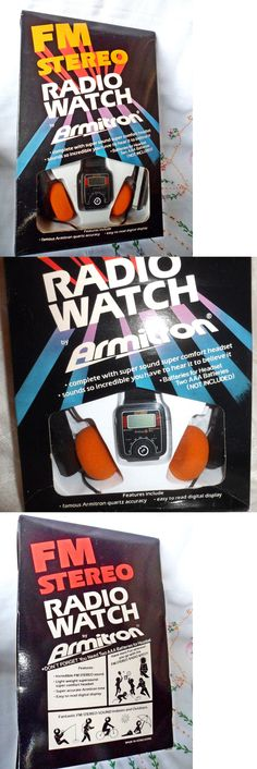 Portable AM FM Radios: Vintage 1981 Armitron Fm Stereo Radio Watch W/ Headset New In Box -New Batteries BUY IT NOW ONLY: $65.0