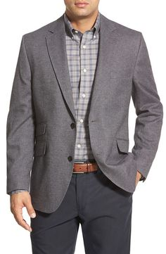 KROON STING Soft Coat 100% Cotton Sliver Grey 2 button, notch lapel, side vents, 2 lower hacking flap pockets, self fabric double besom  pocket over the right lower pocket, Breastwelt. Functional button holes. Half lined. #kroonclothing #menswear