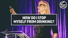 "If you a reaching for the bottle of wine right now, put it down and watch this. I think of every addictive behavior as a ""habit dysfunction"" that we can over. Self Development Books, Development Quotes, Personal Development, Mel Robbins, Quit Drinking, Change Your Mindset, Feeling Stuck, Personal Goals, Mind Body Soul"