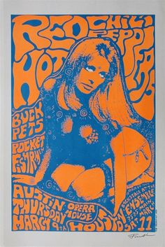 Frank Kozik - The Red Hot Chili Peppers Original Concert Poster