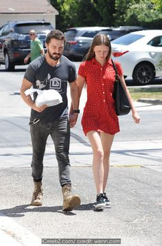 Shia LaBeouf Holds hands with girlfriend Mia Goth in Los Angeles http://icelebz.com/events/shia_labeouf_holds_hands_with_girlfriend_mia_goth_in_los_angeles/photo1.html