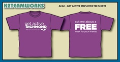 These shirts were for the employees of the Midlothian and Short Pump ACAC locations.