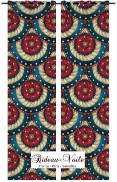 continent exotique tropical ethnique design tendance rideau coussin couet tissu imprim motif. Black Bedroom Furniture Sets. Home Design Ideas