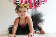 Black Tutu. Kate Spade black tutu. Baby by MyLilMonsterBoutique