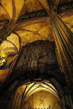 Interior Catedral de Barcelona  Catalonia