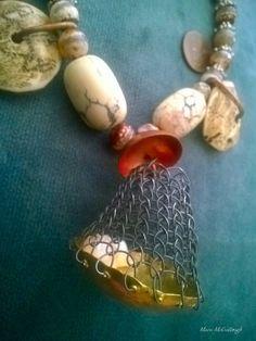 DIY Viking Knit and Tibet beads mixed beads strand