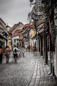 Along the streets of Szentendre in Budapest, Hungary.