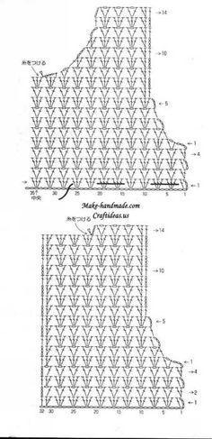 Crochet top diagram                                                                                                                                                                                 More