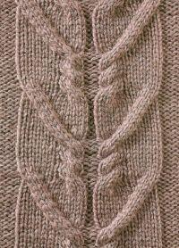 Вязание спицами узор из кос (жгутов) №1772 схема