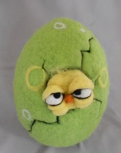 Time to hatch needle felted by papermoongallery on Etsy