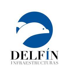 Logotipo para la empresa Delfín infraestructuras, con sede en Panamá