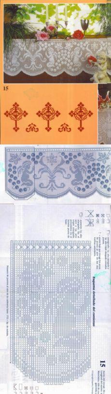 Филейное вязание к Пасхе. / Вязание крючком / Женская одежда крючком. Схемы и описание