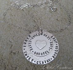 Hand Stamped Necklace  Personalized Jewelry  https://www.etsy.com/listing/95527778/hand-stamped-necklace-personalized
