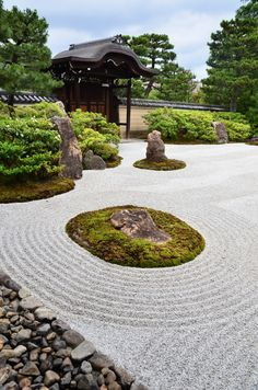 bramphotography:the Zen rockgarden Zen Rock Garden, Japanese Garden Design, Garden Landscape Design, Garden Paths, Japanese Gardens, Garden Pond, Kyoto, Japanese Style House, Bonsai Garden