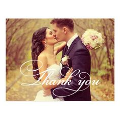 Wedding Photo Thank You Note Cards  