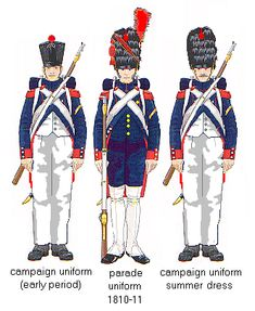 French Napoleonic Horse Artillery Uniforms   Old Guard Artillery. From Jouineau and Mongin.