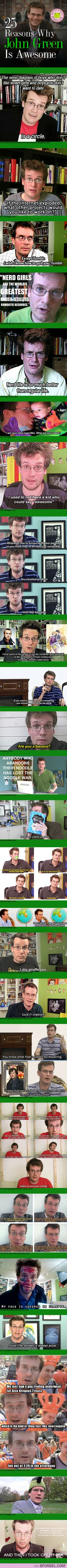25 Reasons Why John Green Is Awesome… not that this begins to cover his awesomeness