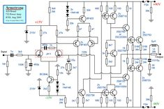 High Power Amplifier Circuit Diagram in 2020 Crown Amplifier, Audio Amplifier, Electronic Schematics, Electronic Circuit, Circuit Diagram, Apple Products, Arduino, Linux, Radios