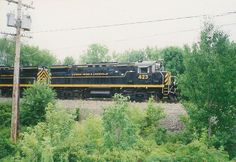 A Livonia, Avon and Lakeville freight train in Olean, New York (United States). 3 August 2001