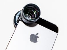 The newest Olloclip lens attachment comes with a 2X telephoto on one side and a polarizer on the other.