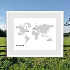 Personalised world map travel map custom world map print map of our minimal style personalised world travel maps are perfect for anniversary or wedding gifts a gumiabroncs Image collections