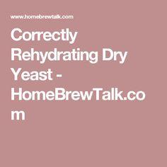 Correctly Rehydrating Dry Yeast - HomeBrewTalk.com