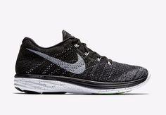 Nike Flyknit Lunar3 Mens Running Shoes 11.5 Black White 698181 010 Oreo #Nike #RunningCrossTraining
