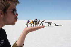 Fotografías Con Perspectiva Forzada fotos  gente  parodias
