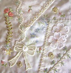 Swap Block by Hideko | Hideko's stitching is always delicate… | Flickr - Photo Sharing!